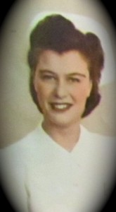 My beautiful Mom as an LPN during WWII.